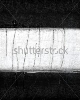 Quadro Pintura de arte abstrata em preto e branco