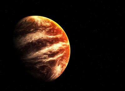 Quadro Planeta e estrelas Red