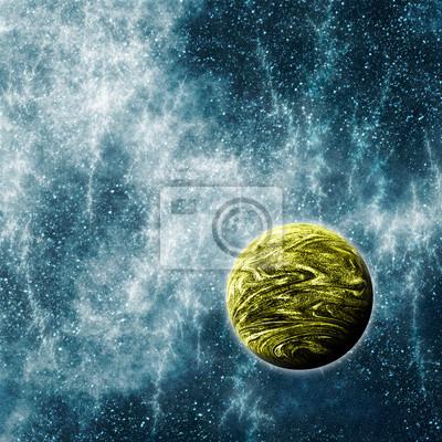 Quadro Planeta Extrasolar em um Espaço Warped