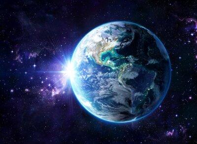 Quadro planeta no cosmos - vista Usa - Usa