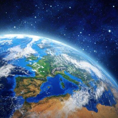 Quadro Planeta Terra no espaço
