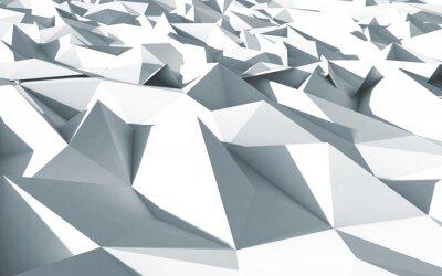 Quadro Polígonos 3D beau cristaux Apaixonado textura blanc