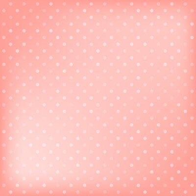 Quadro Polka dot fundo rosa