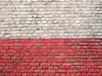 Quadro Polônia, bandeira, pintado, parede