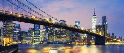 Quadro Ponte de Brooklyn ao entardecer