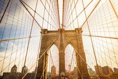 Quadro Ponte de Brooklyn e skyline de Manhattan