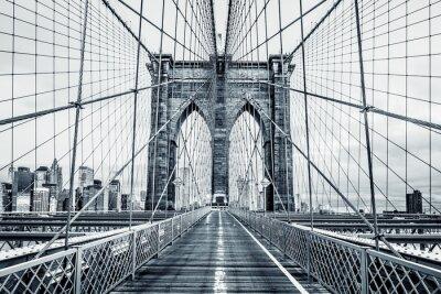 Quadro Ponte de Brooklyn preto e branco