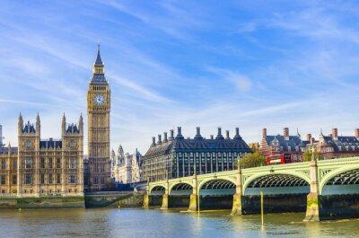 Quadro Ponte de Westminster, as Casas do Parlamento e Rio Tamisa, Reino Unido