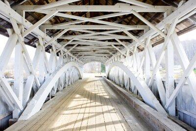 Quadro Ponte Groveton Coberto (1852), New Hampshire, EUA