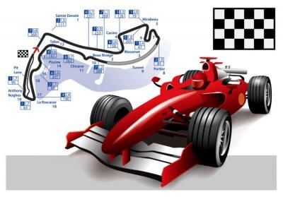 Quadro Poster de Mônaco de Fórmula 1 Grand Prix
