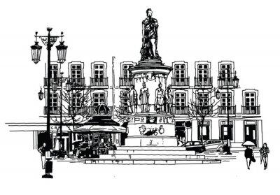 Quadro Praça Camões em lisboa