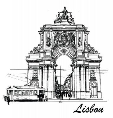 Quadro Praça do Comércio em Lisboa