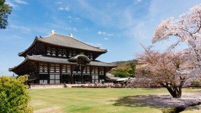 Quadro PREÇO / INFO Adicionar à Mesa de Luz Todaiji, Templo, sakura, estação, Nara, Japão