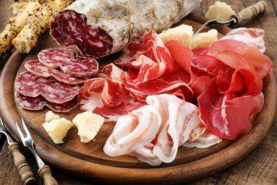 Quadro Presunto de Prosciutto, bresaola, pancetta, salame e queijo parmesão