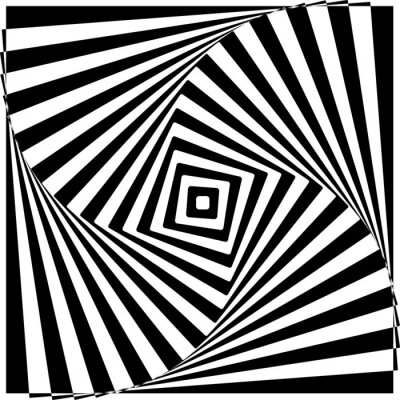 Quadro Preto e branco da ilusão óptica ilustração vetorial.