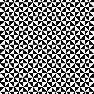 Quadro Preto e branco padrão de triângulo