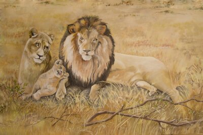 Quadro Pride of lions on vacation