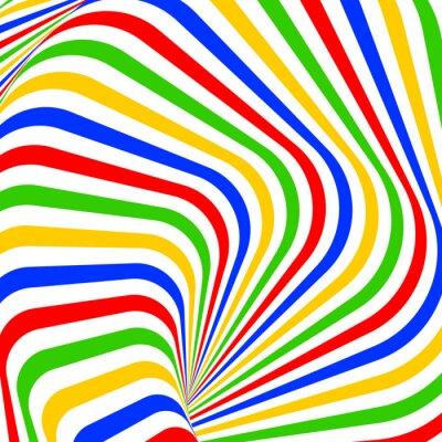 Quadro Projeto colorido vórtice ilusão movimento de fundo