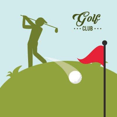 Quadro Projeto do ícone do golfe