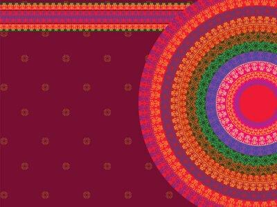 Quadro Projeto Mandala Henna étnicas e colorido, muito elaborada e facilmente editáveis