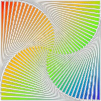 Quadro Projeto multicolor redemoinho ilusão movimento de fundo