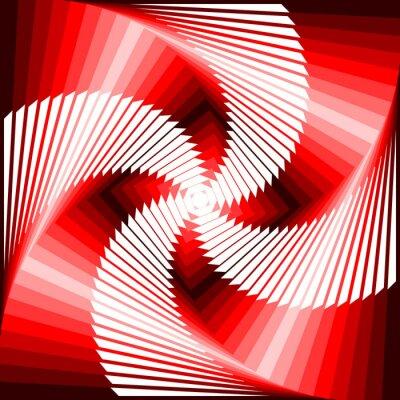 Quadro Projeto vórtice colorido ilusão movimento tetragon volta geométrica