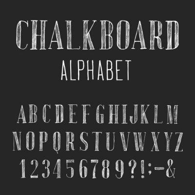 Quadro Quadro do alfabeto Vector Font
