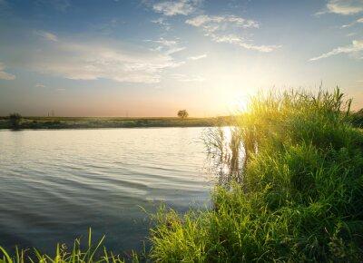 Quadro Quiet rio, pôr do sol