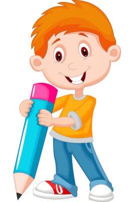 Quadro Rapaz pequeno com lápis