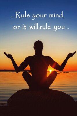Quadro Regule sua mente ou ela irá governá-lo. Motivação para si mesmo