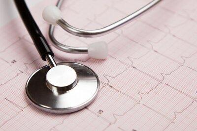 Quadro Relatório médico e cardiograma