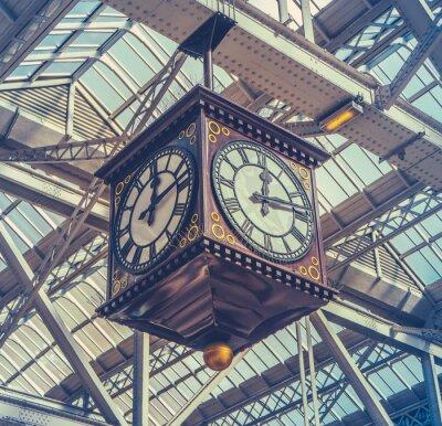 Quadro Relógio da estação do vintage