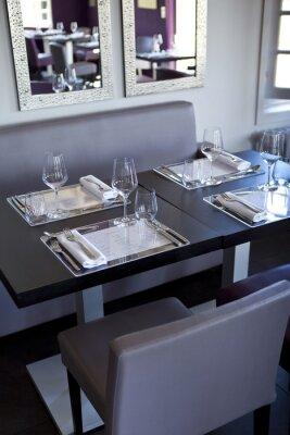 Quadro Restaurante, salle, bistrot, mesas, couverts, Gastronomie