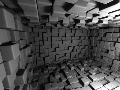 Quadro Resumo Dark Cubes Wall Room Background