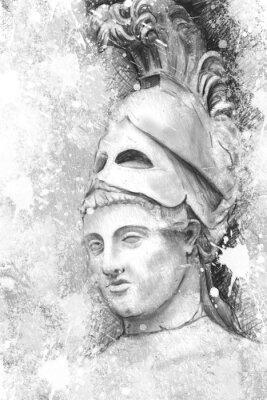 Quadro Retrato artístico de Péricles com fundo texturizado, classica