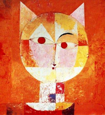 Quadro Retrato colorido de um gato