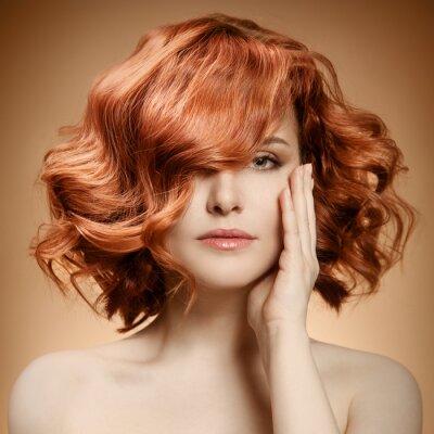 Quadro Retrato da beleza. Cabelo Curly