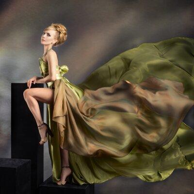 Quadro Retrato da forma do close up da mulher bonita
