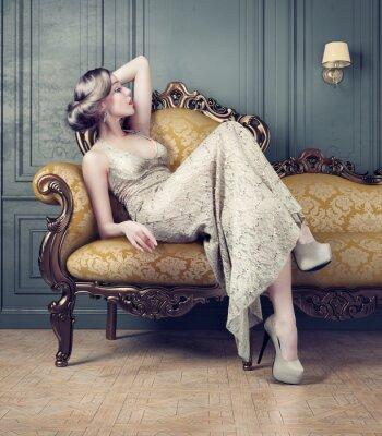 Quadro Retrato da mulher bonita