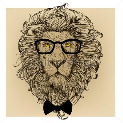Quadro retrato de de leão
