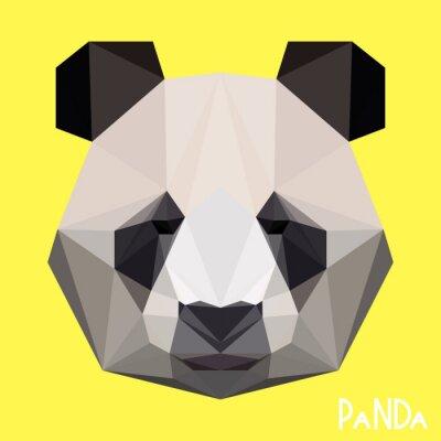 Quadro Retrato de panda geométrica geométrica