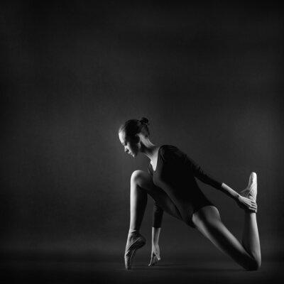 Quadro Retrato de uma mulher jovem ginasta bonita