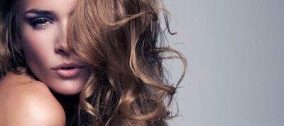 Quadro Retrato do estilo da Vogue bela mulher delicada