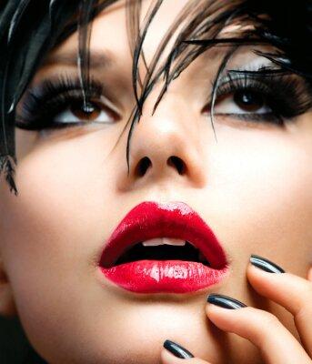 Quadro Retrato Fashion Girl Art