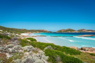 Quadro Rochas na praia, Lucky Bay, Esperance, Austrália Ocidental