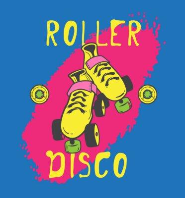 Quadro Roller skate e design gráfico roller_disco para t-shirt