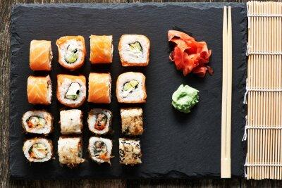 Quadro rolos de sushi