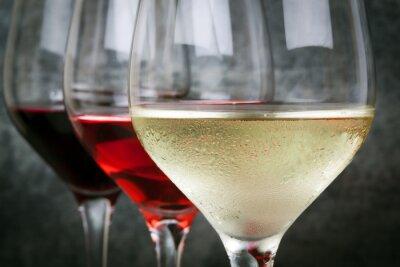 Quadro Rosa branca e vinho tinto