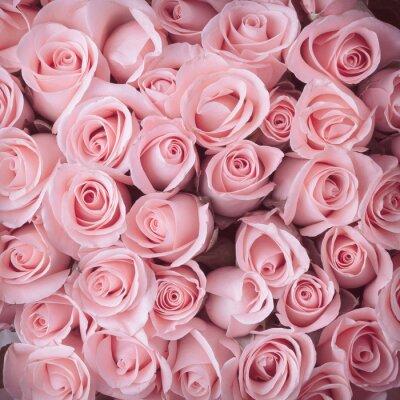Quadro rosa buquê de flores fundo do vintage
