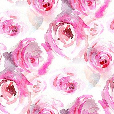 Quadro Rosas da aguarela